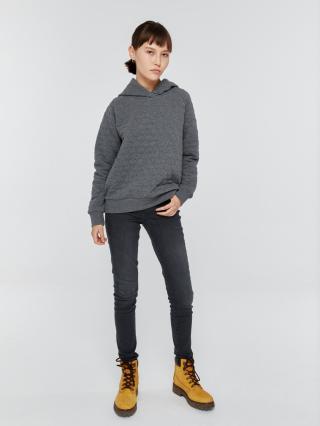 Big Star Womans Hooded Sweatshirt 158810 Dark -903 dámské Grey L