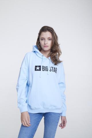 Big Star Womans Hooded Sweatshirt 158842 Light -400 dámské Blue M