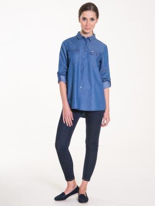 Big Star Womans Longsleeve Shirt 145589 -389 dámské Medium Jeans M