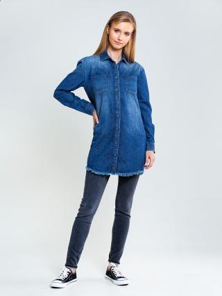 Big Star Womans Longsleeve Shirt 145622 -440 dámské Medium Jeans S