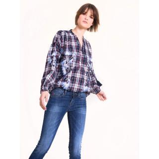 Big Star Womans Longsleeve Shirt 145656 Navy Blue-402 dámské S