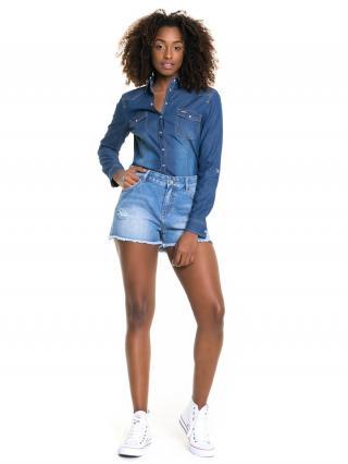 Big Star Womans Longsleeve Shirt 145665 -320 dámské Medium Jeans L