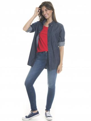 Big Star Womans Longsleeve Shirt 145676 -603 dámské Dark Jeans XXL