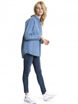 Big Star Womans Longsleeve Shirt 145676 Light Jeans-200 dámské Blue S