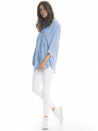 Big Star Womans Longsleeve Shirt 145680 Light -151 dámské Blue L