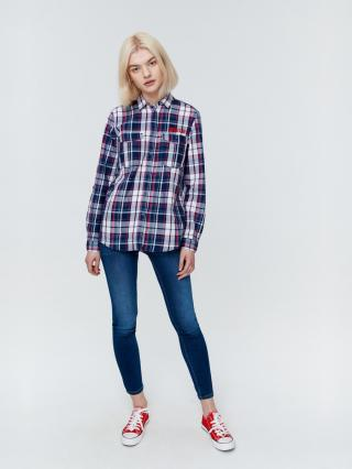 Big Star Womans Longsleeve Shirt 145683 Navy Blue-490 dámské XL