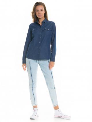 Big Star Womans Longsleeve Shirt 145715 -500 dámské Dark Jeans XL