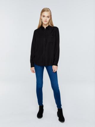 Big Star Womans Longsleeve Shirt 145724 -906 dámské Black S
