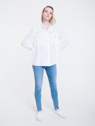Big Star Womans Longsleeve Shirt 145737 -100 dámské White S