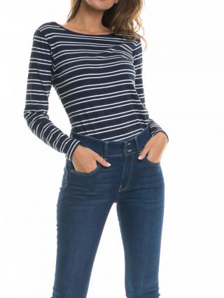 Big Star Womans Longsleeve T-shirt 158767 Navy Blue-456 dámské XXL