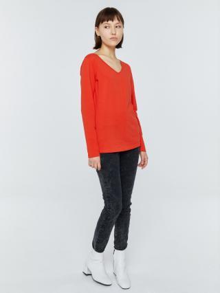 Big Star Womans Longsleeve V-neck Blouse 158819 -603 dámské Red XL