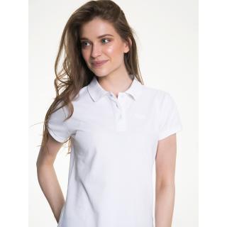 Big Star Womans Shortsleeve Polo T-shirt 152516 -110 dámské White S