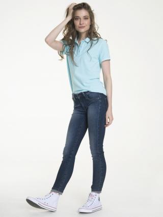 Big Star Womans Shortsleeve Polo T-shirt 152516 -417 dámské Blue XXL