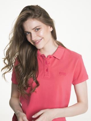 Big Star Womans Shortsleeve Polo T-shirt 152516 -686 dámské Red XXL