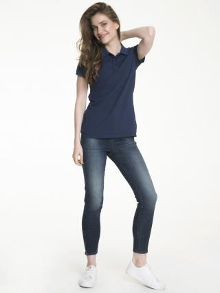 Big Star Womans Shortsleeve Polo T-shirt 152516 Navy Blue-473 dámské S