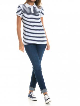 Big Star Womans Shortsleeve Polo T-shirt 152520 -110 dámské White M