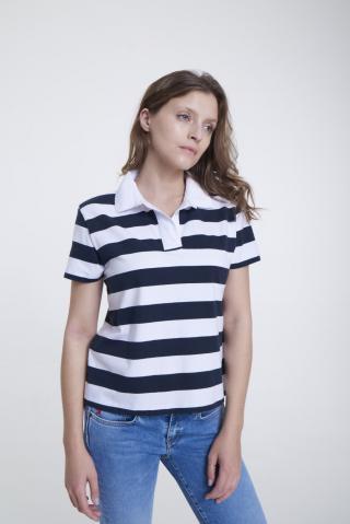 Big Star Womans Shortsleeve Polo T-shirt 158836 -403 dámské Blue L