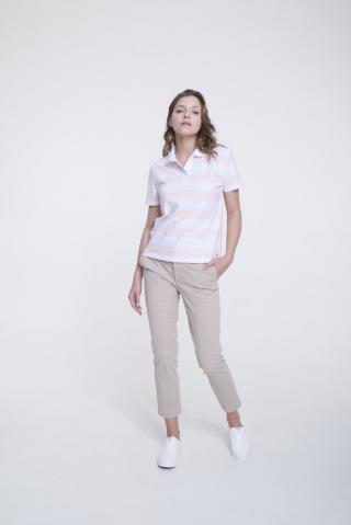 Big Star Womans Shortsleeve Polo T-shirt 158836 Light -600 dámské Pink S