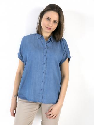 Big Star Womans Shortsleeve Shirt 145716 -301 dámské Medium Jeans S