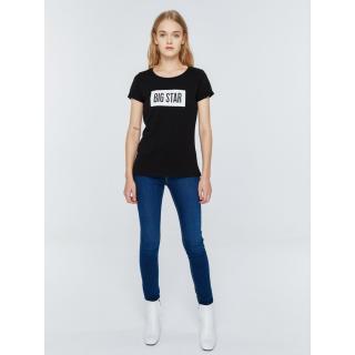 Big Star Womans Shortsleeve T-shirt 152518 -906 dámské Black M