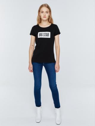 Big Star Womans Shortsleeve T-shirt 152518 -906 dámské Black XXL