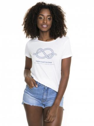 Big Star Womans Shortsleeve T-shirt 158720 -101 dámské Cream XL