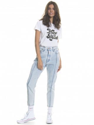 Big Star Womans Shortsleeve T-shirt 158734 -110 dámské White M