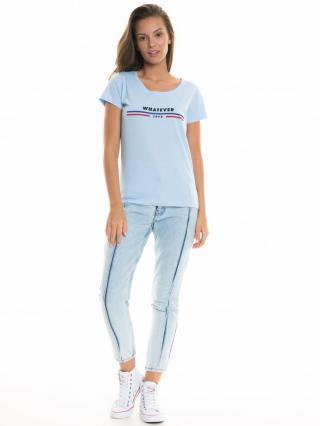 Big Star Womans Shortsleeve T-shirt 158754 Light -406 dámské Blue XL