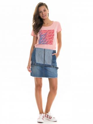 Big Star Womans Shortsleeve T-shirt 158755 Light -621 dámské Pink M
