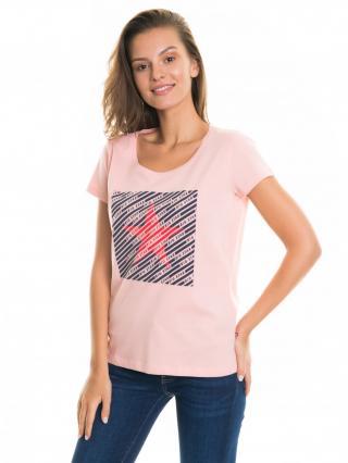 Big Star Womans Shortsleeve T-shirt 158756 Light -621 dámské Pink XL