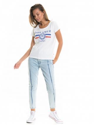 Big Star Womans Shortsleeve T-shirt 158757 -101 dámské Cream XL