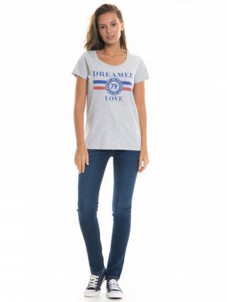 Big Star Womans Shortsleeve T-shirt 158757 Light -925 dámské Grey XL