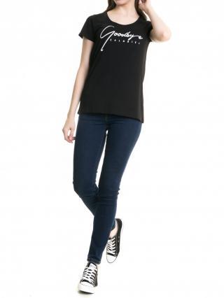 Big Star Womans Shortsleeve T-shirt 158783 -900 dámské Black M