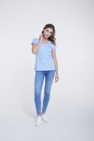 Big Star Womans Shortsleeve T-shirt 158787 -416 dámské Blue S