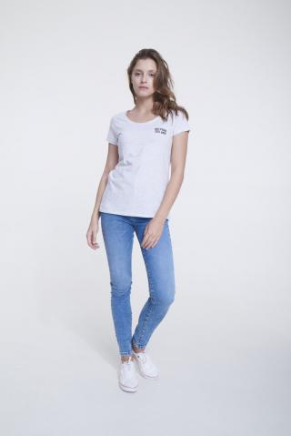Big Star Womans Shortsleeve T-shirt 158787 Light -975 dámské Grey S