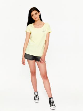 Big Star Womans Shortsleeve T-shirt 158788 -238 dámské Light Yellow S