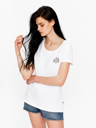 Big Star Womans Shortsleeve T-shirt 158789 -110 dámské White M