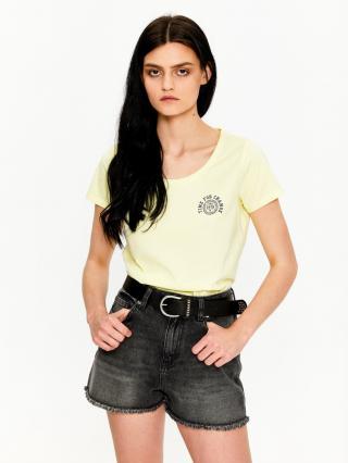 Big Star Womans Shortsleeve T-shirt 158789 -238 dámské Light Yellow M