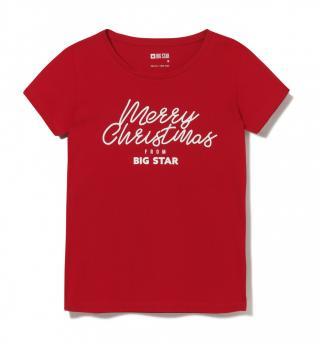 Big Star Womans Shortsleeve T-shirt 158829 -603 dámské Red L