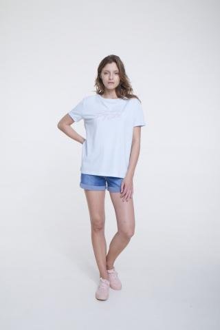 Big Star Womans Shortsleeve T-shirt 158837 Light -400 dámské Blue M