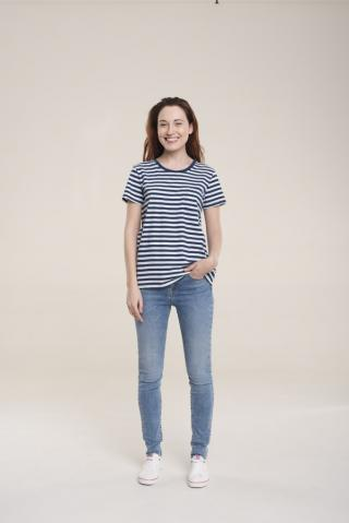 Big Star Womans Shortsleeve T-shirt 158840 -403 dámské Blue L