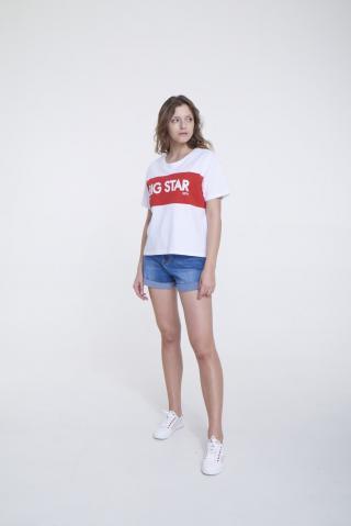 Big Star Womans Shortsleeve T-shirt 158863 -100 dámské White S