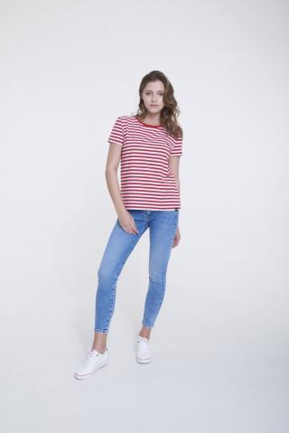 Big Star Womans Shortsleeve T-shirt 158867 -603 dámské Red L