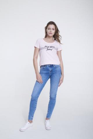 Big Star Womans Shortsleeve T-shirt 158870 Light -600 dámské Pink S