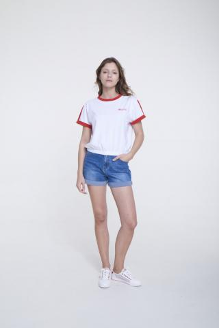 Big Star Womans Shortsleeve T-shirt 158877 -603 dámské Red S