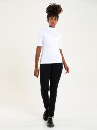 Big Star Womans Shortsleeve Turtleneck T-shirt 180002 -101 dámské Cream L