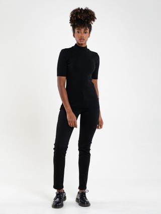 Big Star Womans Shortsleeve Turtleneck T-shirt 180002 -906 dámské Black M