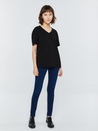 Big Star Womans Shortsleeve V-neck T-shirt 152529 -906 dámské Black M