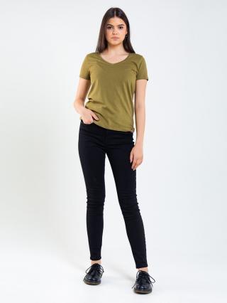 Big Star Womans Shortsleeve V-neck T-shirt 158860 -301 dámské Green S