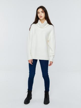 Big Star Womans Sweater 161982 Pearl-103 dámské White L